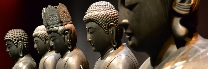 Buddhas: Leiden, Museum Volkenkunde (National Museum of Ethnology), October 2012 via https://www.flickr.com/photos/jankunst/8122824258